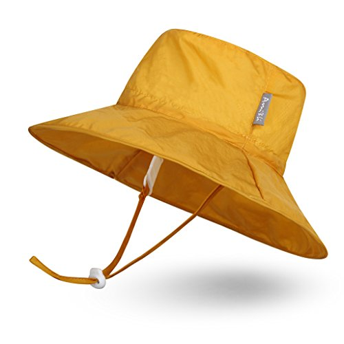 Ami&Li tots Super Lightweight Child Adjustable Ultrathin Sunhat for Baby Girl Boy Kids Toddler UPF 50 - M: Yellow]()