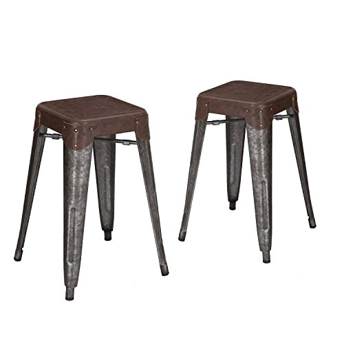 joveco-24-inches-sheet-metal-frame-galvanized-distressed-vintage-ancient-style-barstool-set-of-2