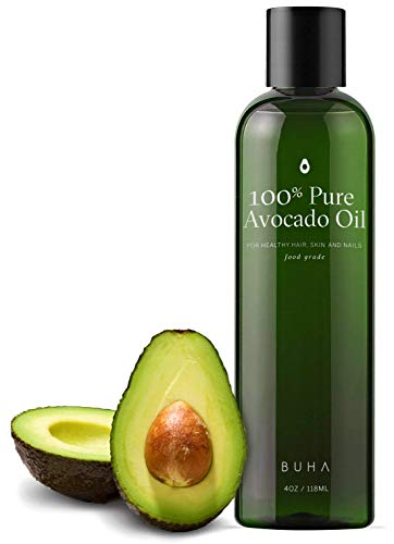 Cold Pressed Avocado Oil for Skin, Hair & Body - Food Grade and Ideal for Cooking - Rich in Vitamins & Essential Fatty Acids - 4oz