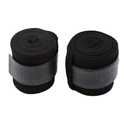UNKE 2 Rolls Set Elastic Cotton Hand Wraps, Boxing Wraps, Fist Protector Bandages for Muay Thai, MMA, ()