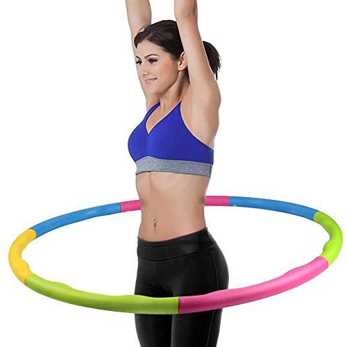 Weighted Hula Hoop, ACCMOR 2 Pound Fitness Exercise Hula Hoop, Weight Loss Workout Equipment for Dancing Hot Fitness Workouts and Simply the Funnest Way to Lose Weight - Fat Burning