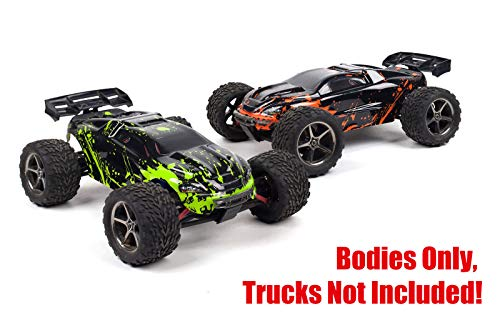 SummitLink 2pk Combo Set Compatible Custom Body Muddy Orange and Green Replacement for 1/16 Scale RC Car or Truck (Truck not Included) ERMN-RG-01 (Bodies Revo Painted)
