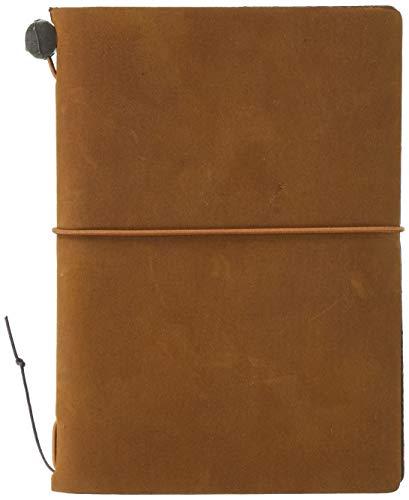 Midori Traveler's Notebook - Starter Kit, Camel (Passport Size)