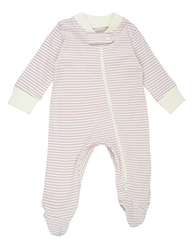 Dordor & Gorgor Organic Zip Front Sleep 'N Play, Baby Girl Footed Pajamas, Cotton, Pink, 12 Months -