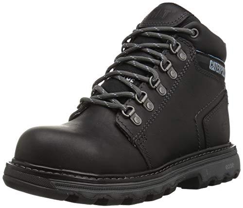 (Caterpillar Women's Ellie Steel Toe Work Boot, Black, 8 M US)