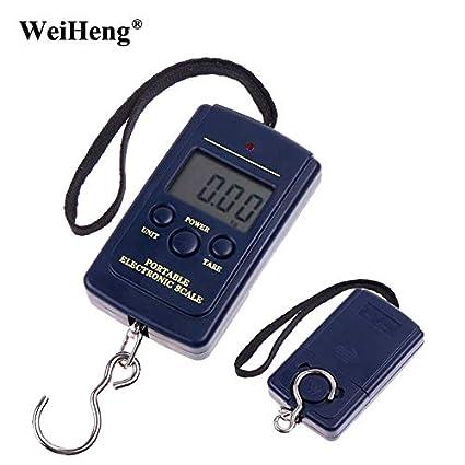 d69e04fc7b97 WeiHeng Portable Mini Digital Luggage scale Balance 40kg Electronic ...