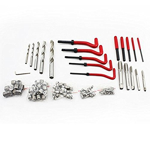LARS360 131 Piece Thread Repair Kit Drill Sleeves Helicoil Auto Motor M5 M6 M8 M10 M12 Threaded Sleeve Tool Kit