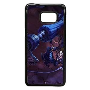 caso Shacoskinstrivia Liga de Leyendas N5Q65J1TQ funda Samsung Galaxy S6 Edge Plus funda 12A314 negro