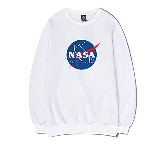 CORIRESHA Fashion NASA Logo Print Hoodie Sweatshirt with Pocket
