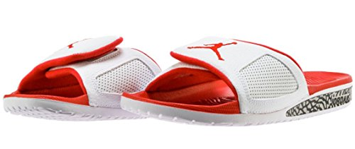 Nike Heren Air Jordan Hydro Iii Retro Dia Wit / Fire Red Brand Wit / Fire Red-fire Red