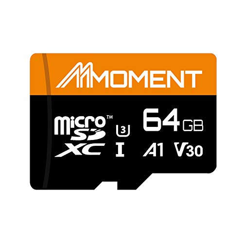 Moment 64GB MicroSDXC Up to 95 Mbps Read Speed, U3/UHS-I Class 10 Speed Rating, V30 Video Speed Class, A1 App Performance Class, 4K UltraHD Photo and Video Capable, Smartphone, Tablet and Cameras