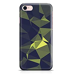 Loud Universe iPhone 7 Case Green Geomaterical Pattern Transparent Edge Durable Wrap Around iPhone 7 Cover