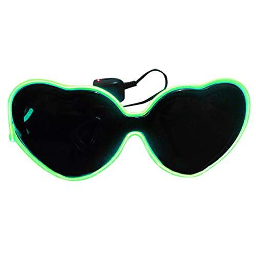 Sol Navidad Gafas 1gn Led Cumpleaños Verde Adultos Zarlle Luminosas Niños Para Y Luz gafas De Brillantes Fiesta Halloween Led Aviador Con Regalo OFqI5