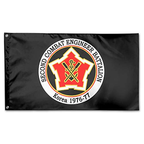 UNSTARFLAG American Flag by U.S. Veterans Owned US Army Unit 2nd Combat Engineer Flag 3x5 ()