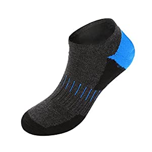 Men's Low Cut Athletic Socks-6 Pairs Ankle Quarter Socks with Cushion Liner