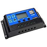 HQRP 20 Amp 20A Solar Charge Power Controller/Regulator 12V / 24V 20A w/LED