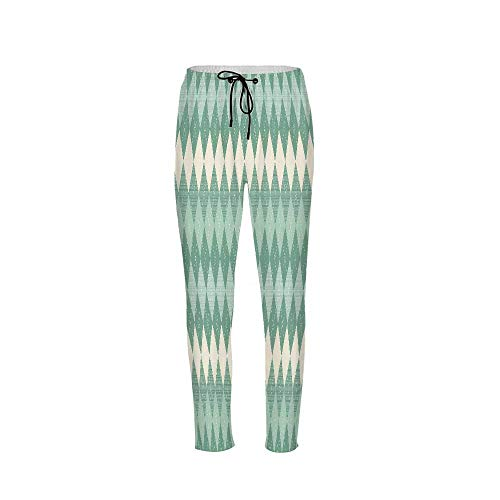 Aqua Stylish Drawstring Pants,Rectangular Triangle Shapes Abstract Design Sketchy Lines Decorative for Boys & Men,2XL