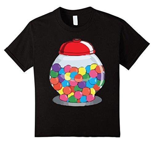 Gumball Machine Costume Child (Kids Gumball Machine Bubblegum Halloween Costume T-Shirt 8 Black)