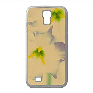 White Flowers Macro Watercolor style Cover Samsung Galaxy S4 I9500 Case (Flowers Watercolor style Cover Samsung Galaxy S4 I9500 Case) Kimberly Kurzendoerfer