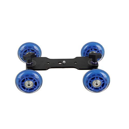 Hdslr Clamp (Papaler Tabletop Mobile Rolling Slider Dolly Car Skater Video Track Rail for Speedlite DSLR Camera Camcorder Rig)