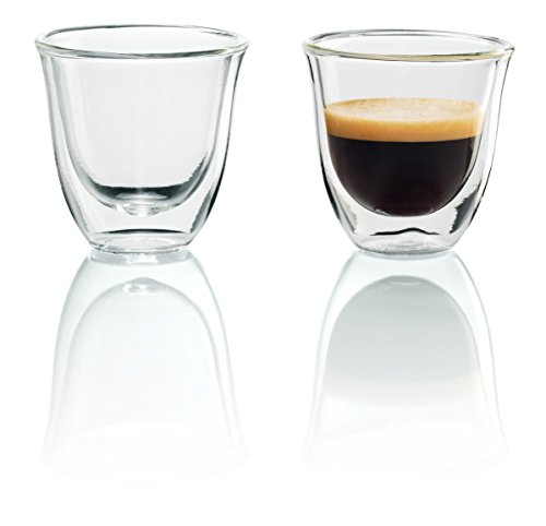 Modern Italian Glass - DeLonghi Double Walled Thermo Espresso Glasses, Set of 2