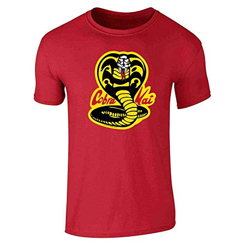 Kickass Movie Costume (Cobra Kai Costume The Karate Kid Retro Martial Art Red L Graphic Tee T-Shirt for)