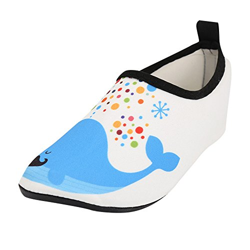(Baby Girl Shoes Miuye Little Kid Kid Baby Boys&Girls Whale Surf Beach Snorkel Socks Swimming Diving Child Shoes Blue)
