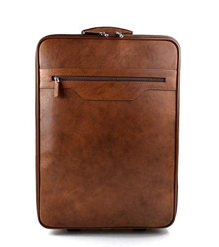 Trolley rígida maleta de cuero bolso de cuero de viaje