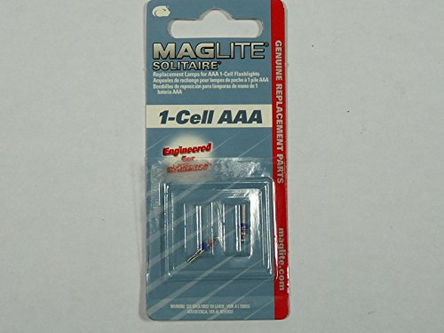 Maglite Solitaire 107-000-436 LK3A001 1-Cell AAA Replacement Bulb 2Pk