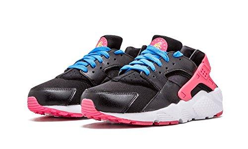 reputable site e8d3d f28a3 Nike Girls' Grade School Huarache Run Running Shoes Black/Pink/Blue Size 6Y
