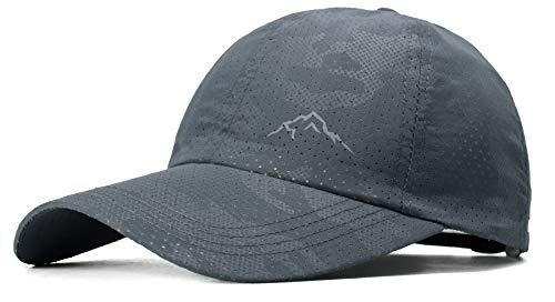 (ELLEWIN Unisex Breathable Quick Dry Mesh Baseball Cap Sun Hat (C-UPF50 Grey) )