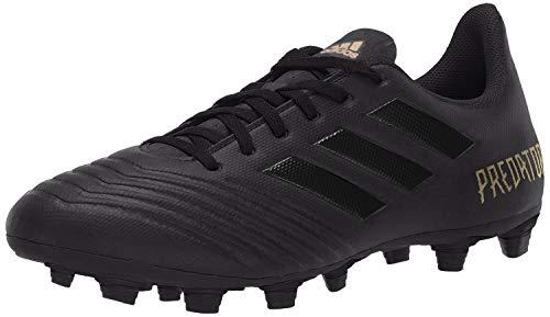 adidas Men's Predator 19.4 Firm Ground Soccer Shoe Black/Gold Metallic, 8.5 M US