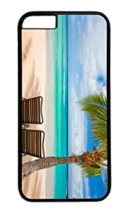 MOKSHOP Adorable chilling under palms Hard Case Protective Shell Cell Phone Cover For Apple Iphone 6 Plus (5.5 Inch) - PC Black