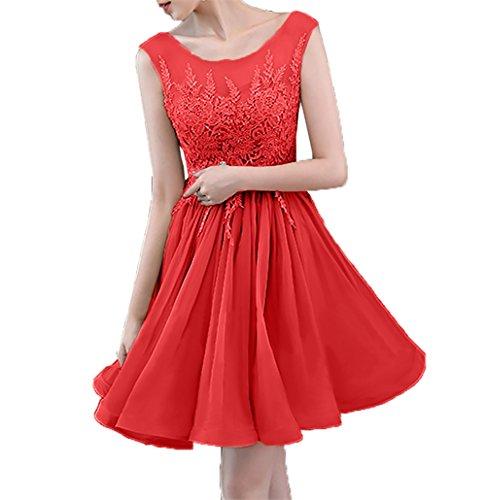 Abendkleider Spitze Damen Charmant Rot Cocktailkleider Neu Promkleider Mini Attraktive Partykleider Hundkragen 2018 wpXxxqOU0