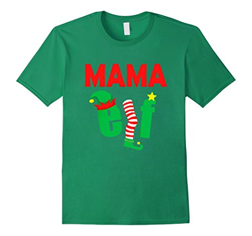 [Men's FUNNY MAMA ELF T-SHIRT Ugly Christmas Sweater Style Shirt 2XL Kelly Green] (Father And Daughter Halloween Costume Ideas)