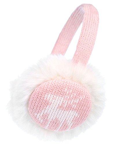 Kids Girls Plush Faux Fur Winter Knitted Reindeer