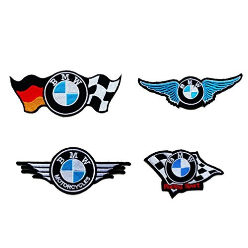 4pcs. BMW Embroidered Iron on Patch ,Sew On Car (Bmw Dust)