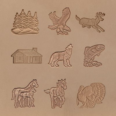 Springfield Leather Company's Wildlife Stamping Tool Sets (9 Piece Wildlife 3D Stamping Set) by SLC