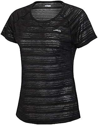 H.MILES Womens Yoga Shirts Sports Tops Short Sleeve Moisture Wicking Athletic Shirts