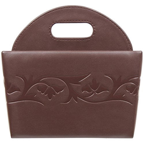 Belmun Smooth Finish Brown Floral Embossing, Premium Artificial Leather, 4 Section, Cutlery - Flatware Brown Leatherette Storage