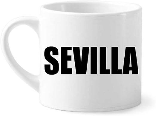 DIYthinker Sevilla españa Nombre de la Ciudad Mini Taza Blanca ...