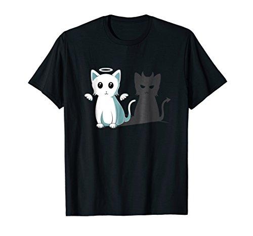 (Purr Evil Devil Cat T-Shirt Halloween Cat Angel Devil Shirt)