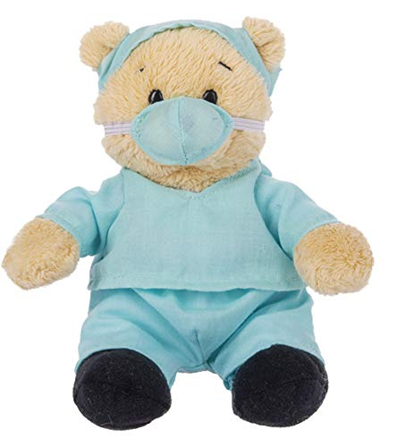 Ganz Wee Bears Get Well Soon Teddy Bear Doctor Toy in Blue Scrubs Stuffed Animal for Comfort and Love