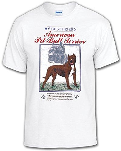 My Best Friend Dog T-Shirt: American Pit Bull Terrier-Adult Large (Pit Adult T-shirt)