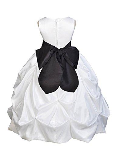 Zipper Taffeta Wedding Dress - 5
