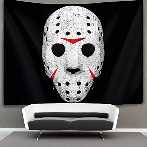 Horror Movie Maniac Wall Tapestry Hippie Art Tapestry Wall Hanging Home Decor Extra Large tablecloths 50x60 inches for Bedroom Living Room Dorm Room by ART TANG