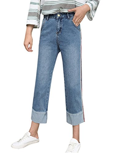 Jambe COCO Jeans bleu bleu Femme clothing droite EPPqSw