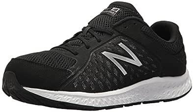New Balance Men's 420v4 Cushioning Running Shoe, Black/Silver, 8 4E US