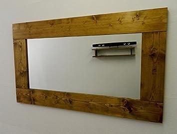 NEW fait  la main Grand miroir mural en bois de chªne 128 cm x 75