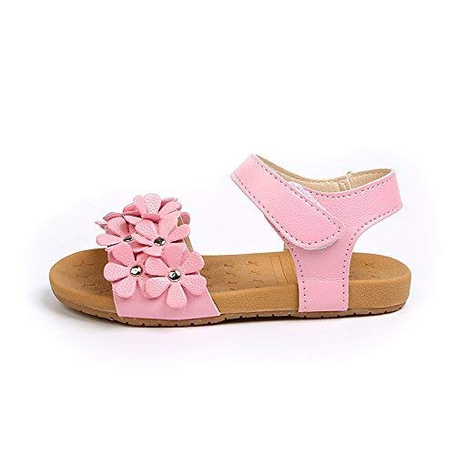 cb00ee4295112 Comfy Kids Girls Pink 108 Sandal 23(6 M Toddler)